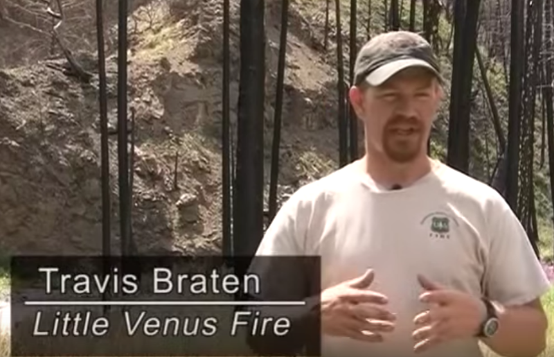 Travis Braten in sharing his little venus fire experience inside a fire shelter